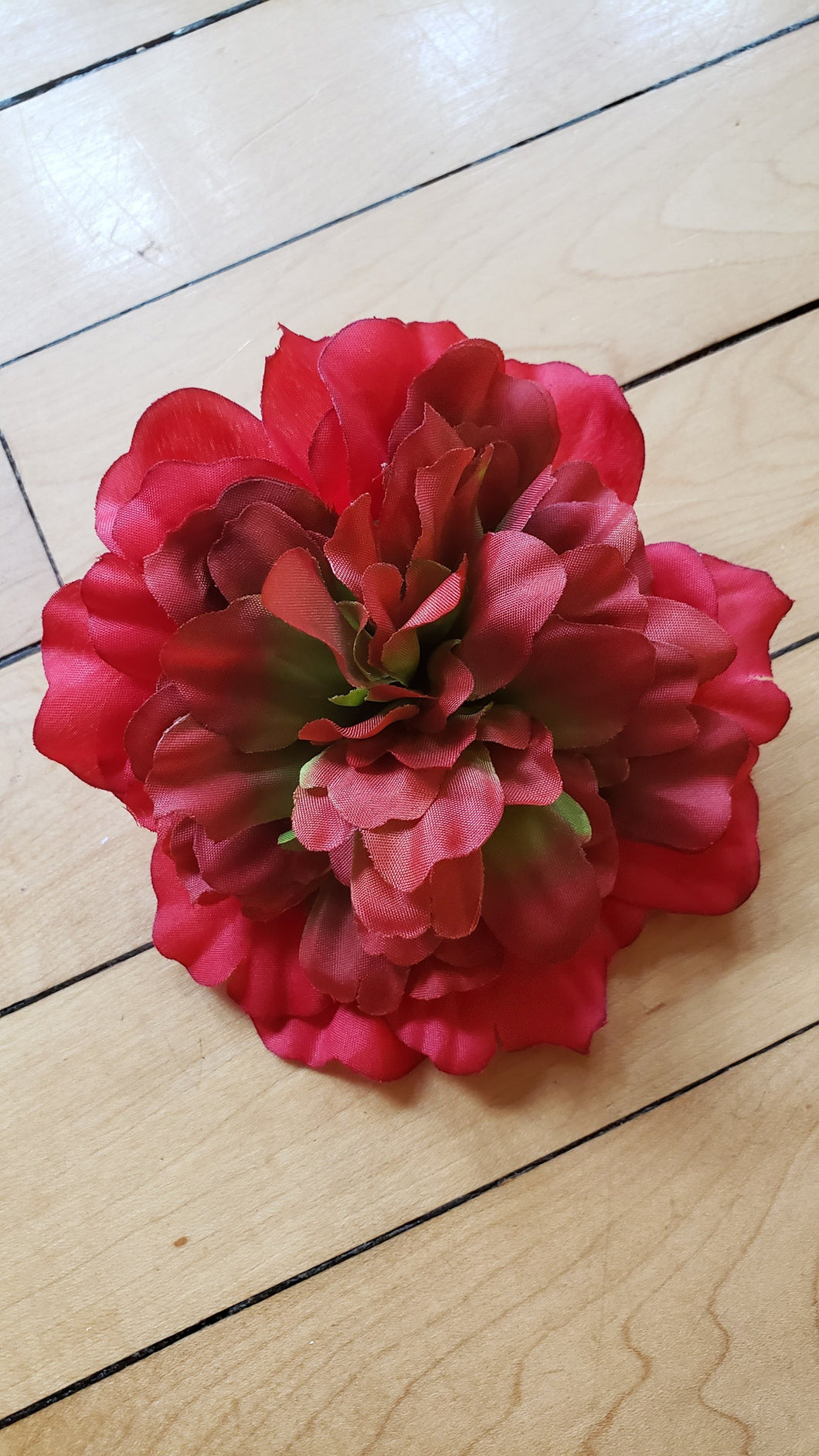Red Peony Hair Flower - Vivacious Vixen Apparel