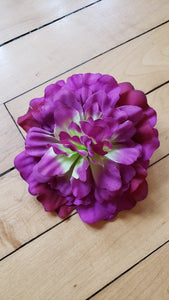 Purple Peony Hair Flower - Vivacious Vixen Apparel