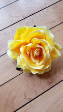 Load image into Gallery viewer, Yellow Rose Hair Flower