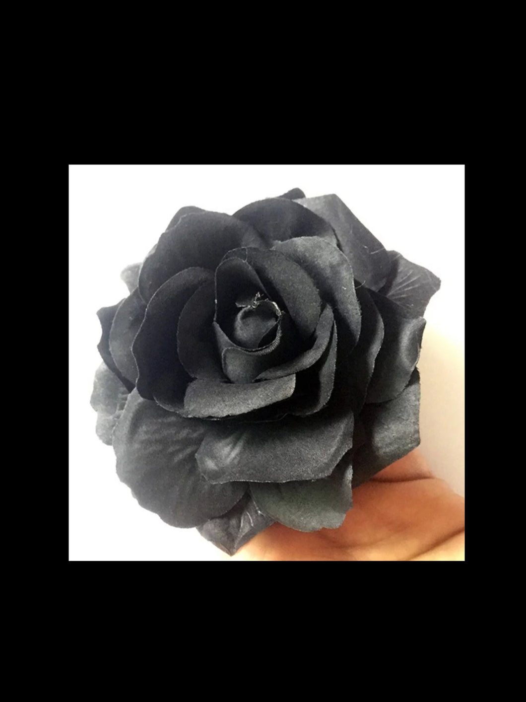 Black Rose Hair Flower - Vivacious Vixen Apparel