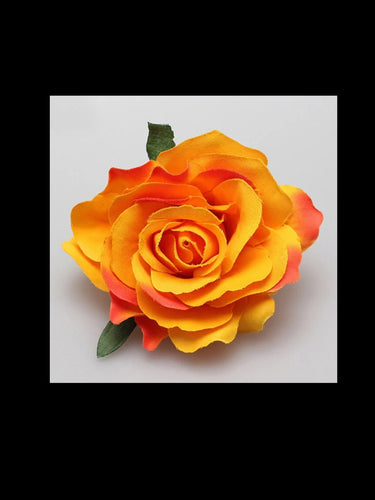 Orange Rose Hair Flower - Vivacious Vixen Apparel