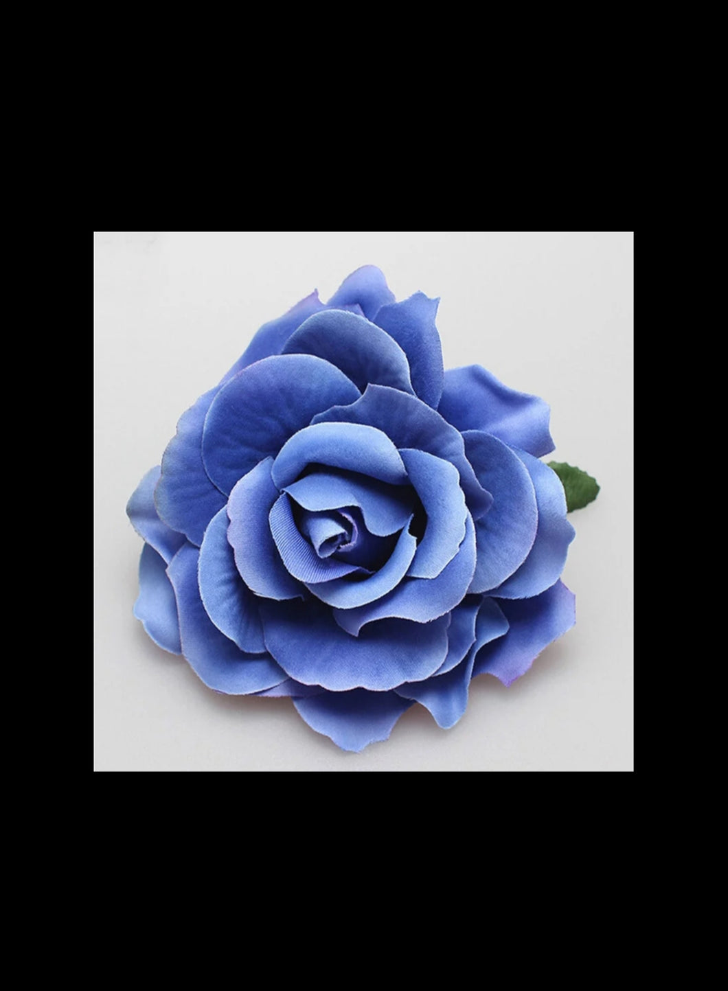 Blue Rose Hair Flower - Vivacious Vixen Apparel
