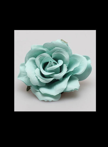 Mint Green Rose Hair Flower - Vivacious Vixen Apparel