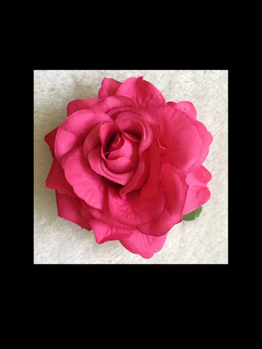 Rose Pink Rose Hair Flower - Vivacious Vixen Apparel