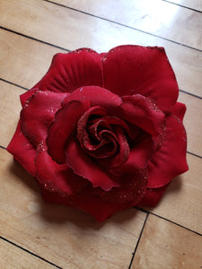 Large Red Glitter Rose