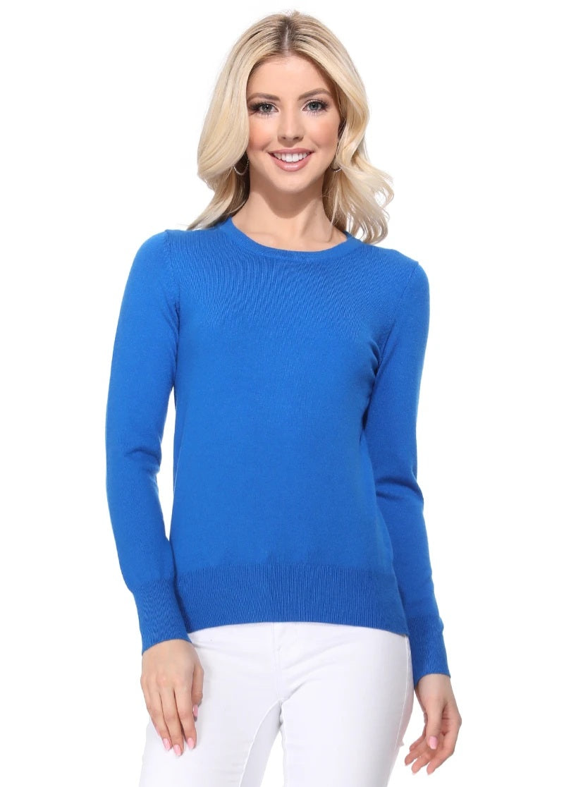 Crewneck Sweater in Royal Blue