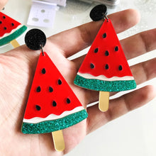 Load image into Gallery viewer, Watermelon Slice Earrings - Vivacious Vixen Apparel