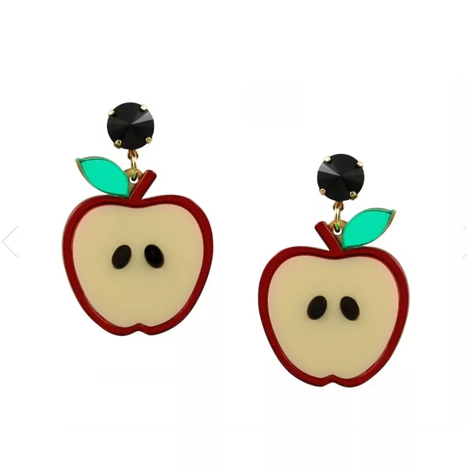 Red Apple Earrings - Vivacious Vixen Apparel