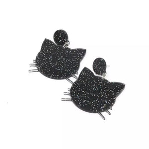 Black Cat Earrings - Vivacious Vixen Apparel