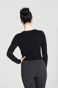Paloma Cardigan in Black - Vivacious Vixen Apparel