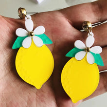 Load image into Gallery viewer, Lemon Earrings - Vivacious Vixen Apparel