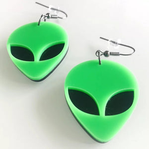 Alien Head Earrings - Vivacious Vixen Apparel