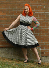 Load image into Gallery viewer, Audrey Dress in Harlequin Print - Vivacious Vixen Apparel