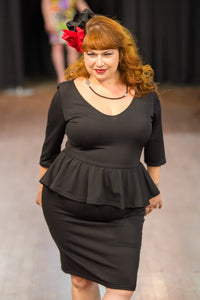 Aurora Reversible Dress in Black - Vivacious Vixen Apparel
