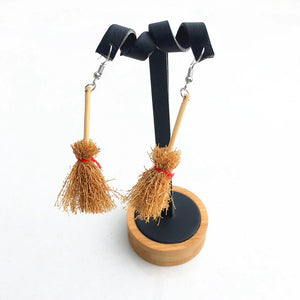 Broom Earrings