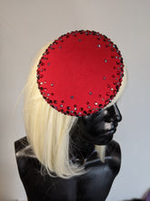 Load image into Gallery viewer, Red Round Pillbox Hat