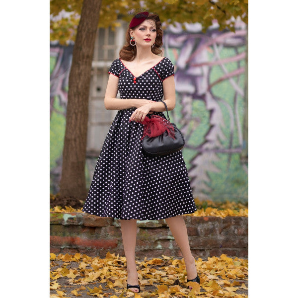 Lily Black and White Polka Dot Dress