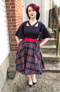 Madeline Dress in Plaid - Vivacious Vixen Apparel