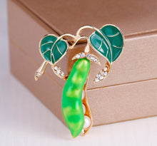 Load image into Gallery viewer, Pea Brooch - Vivacious Vixen Apparel