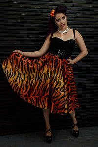 Tiger Print Skirt by Rebel Love - Vivacious Vixen Apparel