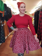 Load image into Gallery viewer, Red Wine Star Circle Skirt - Vivacious Vixen Apparel