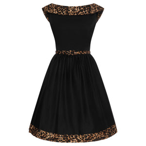 Cindy Dress in Leopard Print
