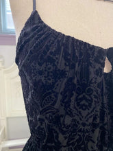 Load image into Gallery viewer, Claudette Dress in Black Damask