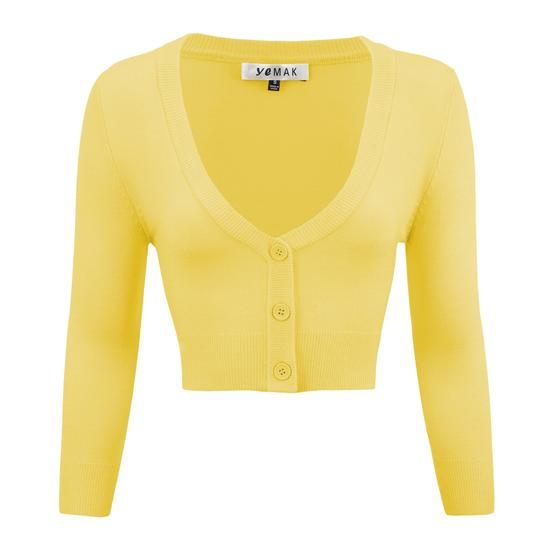 Cropped Cardigan in Custard - Vivacious Vixen Apparel