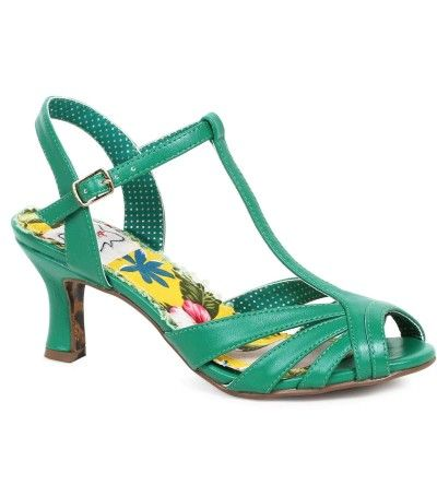 Layla Sandal Shoe in Green - Vivacious Vixen Apparel