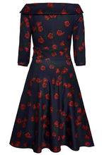 Load image into Gallery viewer, Deborah Dress in Navy Tulip