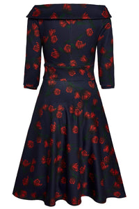 Deborah Dress in Navy Tulip