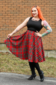 Dee Dee in Red Plaid - Vivacious Vixen Apparel