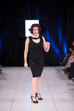 Load image into Gallery viewer, Elle Dress in Black Brocade - Vivacious Vixen Apparel
