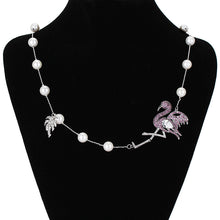 Load image into Gallery viewer, Flamingo Pearl Necklace - Vivacious Vixen Apparel