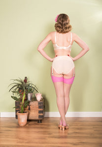 Glamour Seamed Stocking in Pink - Vivacious Vixen Apparel