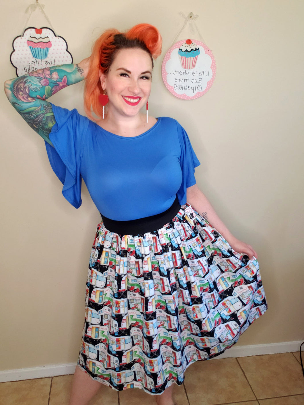 Happy Camper Skirt - Vivacious Vixen Apparel