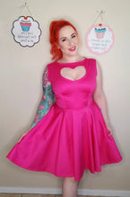 Load image into Gallery viewer, Pink Heart Swing Dress