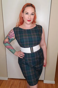 Helen Dress in Green - Vivacious Vixen Apparel