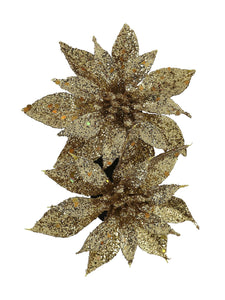 Festive Hair Flower in Gold
