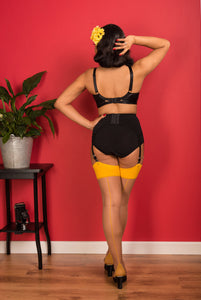 Glamour Seamed Stocking in Nutmeg/Mustard - Vivacious Vixen Apparel