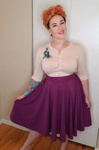 Cutie Pie Skirt in Plum - Vivacious Vixen Apparel