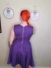 Load image into Gallery viewer, Catherine Dress in Purple Dot