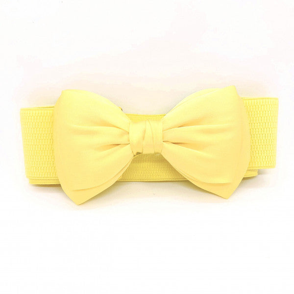 Yellow Bow Belt - Vivacious Vixen Apparel