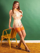 Load image into Gallery viewer, Glamour Seamed Stocking in Pumpkin - Vivacious Vixen Apparel