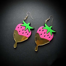 Load image into Gallery viewer, Chocolate Strawberry Earrings - Vivacious Vixen Apparel