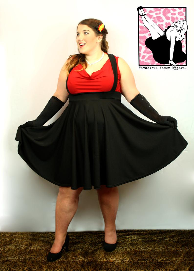 Cutie Pie Suspender Skirt - Vivacious Vixen Apparel