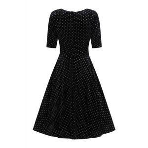 Trixie Dress in Golden Polka Dot