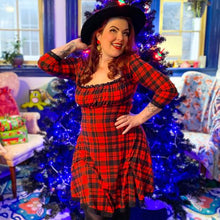Load image into Gallery viewer, Wednesday Dress in Red Plaid