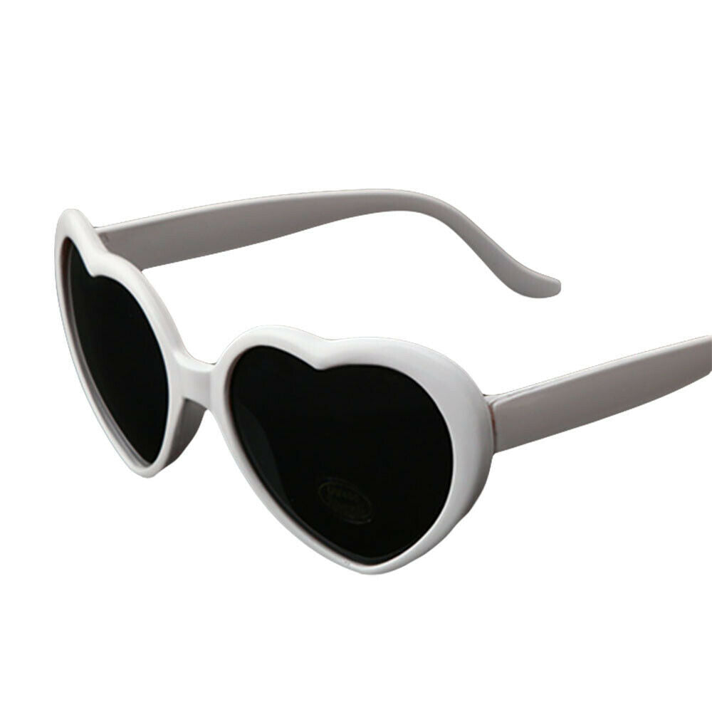 White Heart Sunglasses - Vivacious Vixen Apparel