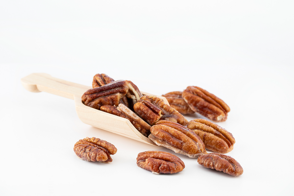 Sugar Free Cinnamon Caramelized Pecans